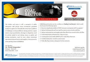 Coal Sector Webinar from